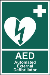 Automated External Defibrillator 'AED' Sign (200 x 300mm)