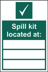 Spill Kit Located At Sign (200 x 300mm)