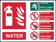 Fire Extinguisher Sign (All Types) (200 x 150mm) - Self Adhesive
