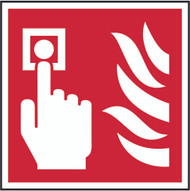 Fire Alarm Sign (100 x 100mm)