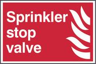 Sprinkler Stop Valve PVC Sign (300 x 200mm)