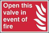Fire Main Control Valve PVC Sign (300 x 200mm)
