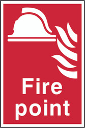 Fire Point PVC Sign (200 x 300mm)