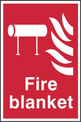 Fire Blanket PVC Sign (300 x 200mm)
