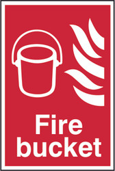 Fire Bucket Sign (200 x 300mm)