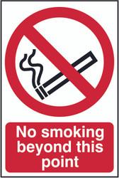 No Smoking Beyond This Point PVC Sign (200 x 300mm)