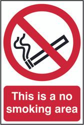 No Smoking Area PVC Sign (200 x 300mm)
