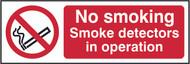 No Smoking, Smoke Detectors In Operation (300 x 100mm)