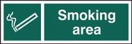 Smoking Area Sign (300 x 100mm)