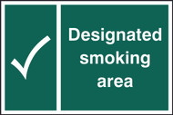 Designated Smoking Area Sign (300 x 200mm)
