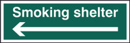 Smoking Shelter Directional Sign (300 x 100mm)
