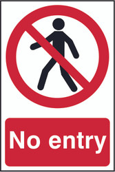 No Entry PVC Sign (200 x 300mm)