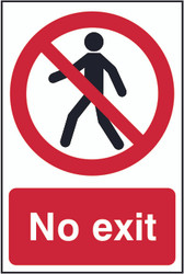 No Exit PVC Sign (200 x 300mm)
