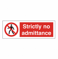 No Admittance PVC Sign (200 x 50mm)
