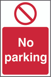 No Parking Sign (200 x 300mm)