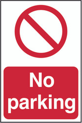 No Parking PVC Sing (200 x 300mm)
