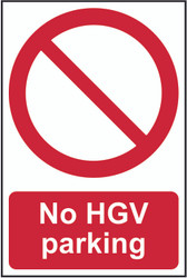 No HGV Parking PVC Sign (200 x 300mm)