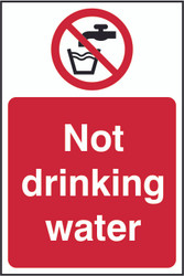 Not Drinking Water Sign (200 x 300mm)