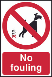 No Fouling PYC Sign (200 x 300mm)