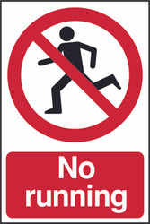 No Running PVC Sign (200 x 300mm)
