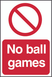 No Ball Games PYC (200 x 300mm)