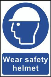 Wear Safety Helmet PVC Sign (200 x 300mm)