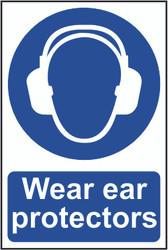 Wear Ear Protectors PVC Sign (200 x 300mm)