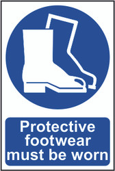 Protective Footwear Must Be Worn PVC Sign (200 x 300mm)