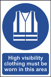 Hi-Vis Must Be Worn In This Area Sign (200 x 300mm)