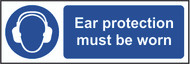 Ear Protection Must Be Worn Sign (300 x 100mm)