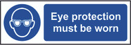 Eye Protection Must Be Worn Sign (300 x 100mm)