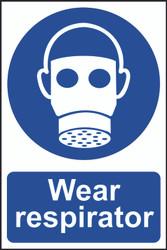 Wear Respirator PVC Sign (200 x 300mm)