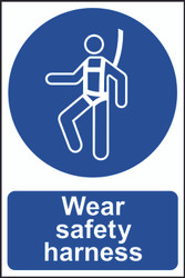 Wear Safety Harness PVC Sign (200 x 300mm)