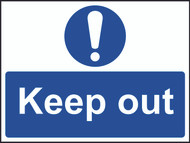 Keep Out Sign (600 x 450mm)
