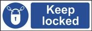 Keep Locked Sign (300 x 100mm)