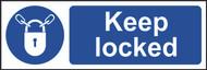 Keep Locked Sign (300 x 100mm)
