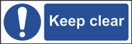 Keep Clear Sign (300 x 100mm)
