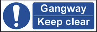 Gangway Keep Clear Sign (300 x 100mm)