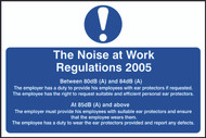 Noise At Work Regulations 2005 PVC Sign (300 x 200mm)