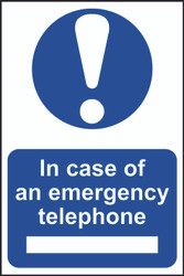 In Case Of Emergency Tel PVC Sign (200 x 300mm)