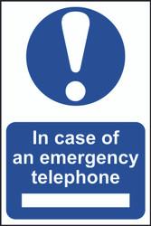 In Case Of Emergency Tel PVC Sign (200 x 300mm)
