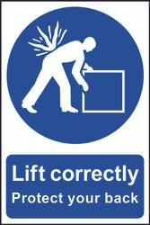 Lift Correctly PVC Sign (200 x 300mm)