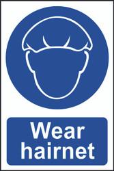 Wear Hairnet PVC Sign (200 x 300mm)