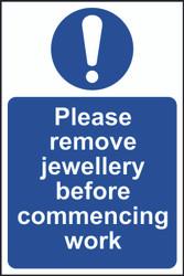 Remove Jewellery Before Work (300 x 200mm)