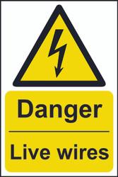 Danger Live Wires Sign (200 x 300mm)