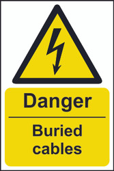 Danger Buried Cables Sign (200 x 300mm)