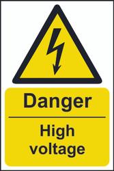 Danger High Voltage Sign (200 x 300mm)