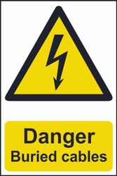 Danger Buried Cables PVC Sign (200 x 300mm)