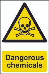Dangerous Chemicals PVC Sign (200 x 300mm)