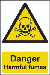 Danger Harmful Fumes PVC Sign (200 x 300mm)